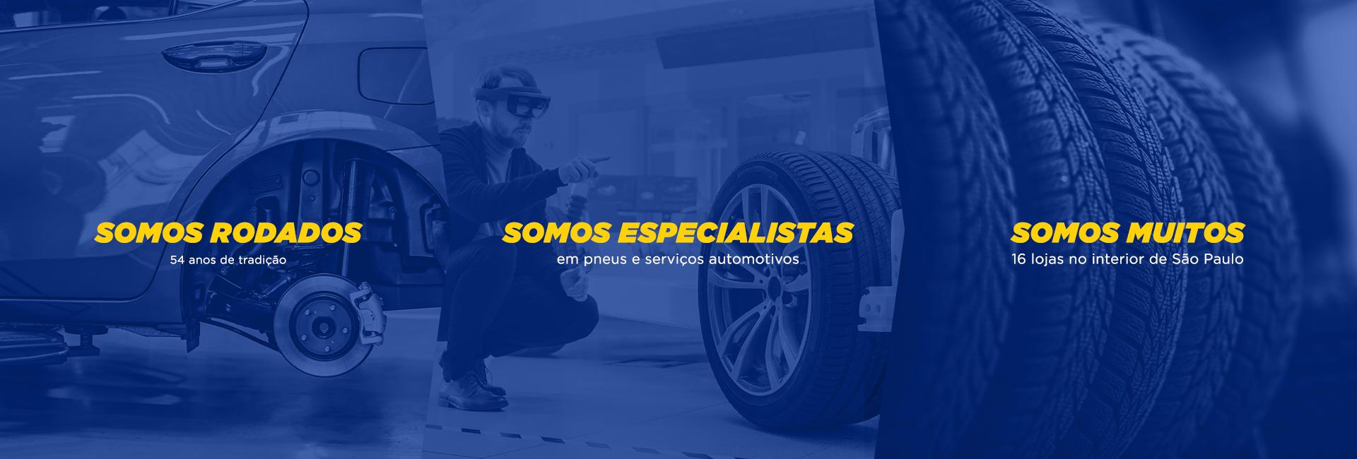 Para você rodar com mais tranquilidade. Pneus, freios, suspensão, alinhamento, acessórios e revisões preventivas são nossas especialidades.